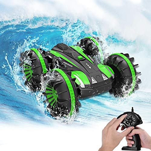 Seckton Amphibious RC Car for Kids Toys for 6-10 Year Old Boys 2.4 GHz Remote Control Boat Waterproof RC Monster Truck 4WD Remote Control Vehicle Gifts All Terrain Water Snow Pool Toy