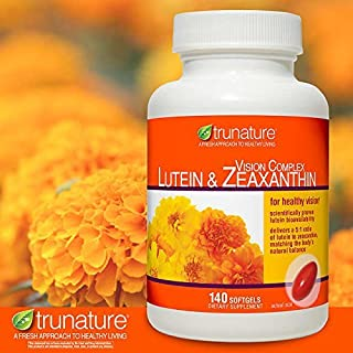 TruNature Vision Complex with Lutein & Zeaxanthin - Great Value Pack of 3 (420 Softgels Total)
