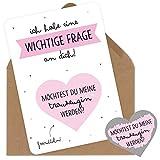 Rubbelkarte für die Trauzeugin Fragen als Geschenk Karte Rubbellos zur Hochzeit mit Umschlag