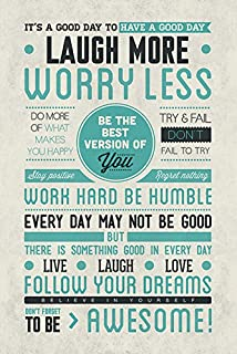Don't Forget to Be Awesome - Motivational Poster/Print (Famous Life Quotes) (Size: 24 inches x 36 inches)