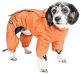DOGHELIOS 'Thunder-Crackle' Full-Body Bodied Waded-Plush Adjustable and 3M Reflective Pet Dog Jacket Coat w/ Blackshark Technology, Large, Sporty Orange