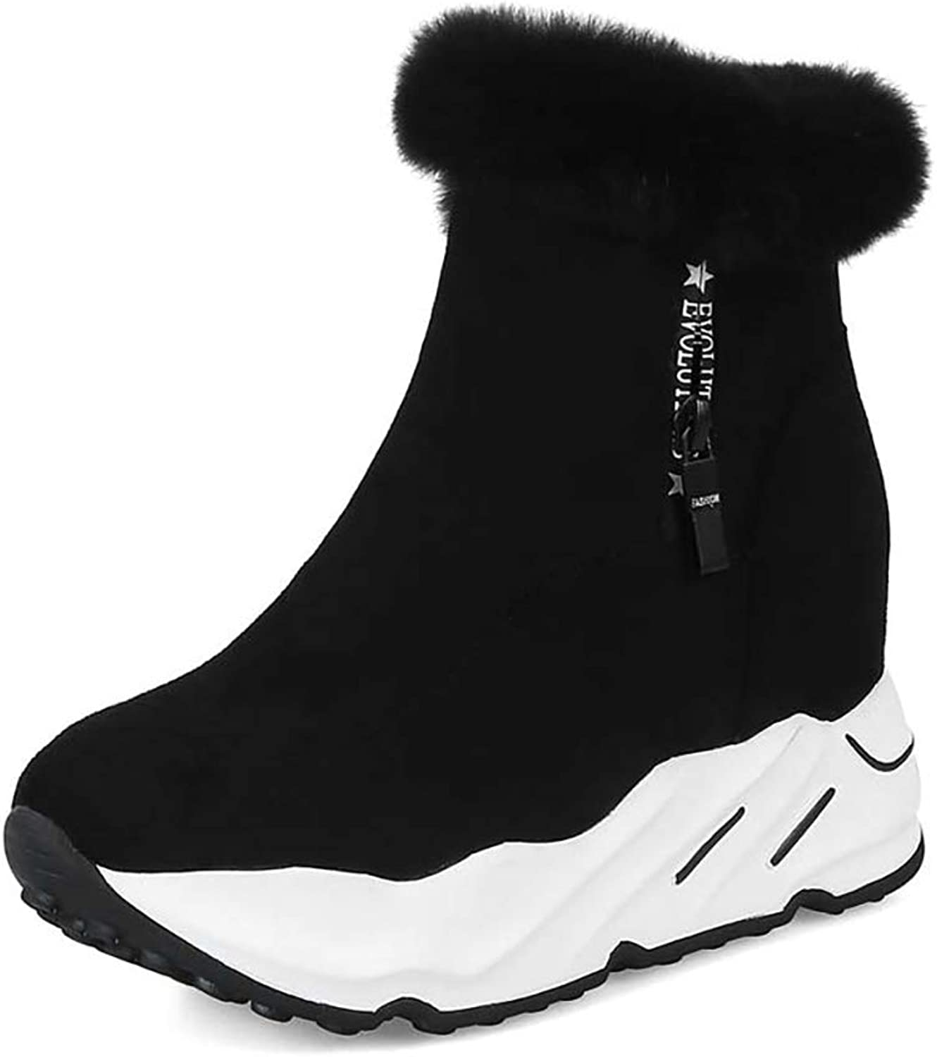 YUBIN Damen Damen Damen Winter Plus Samt Warme Plattform Mit Anti-Skischuhen, Schwarz (Farbe   SCHWARZ, größe   EU 39 US 7 UK 6 JP 24.5cm)  3fbb02