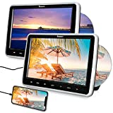 NAVISKAUTO 10.1' Dual Car DVD Players with HDMI Input 2 Headphones Mounting Bracket Support Last Memory Region Free(2 Headrest DVD Players)