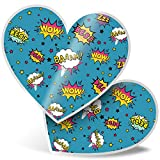 Impresionante 2 pegatinas de corazón de 7,5 cm – Calcomanías divertidas para portátiles, tabletas, equipaje, libros de chatarras, neveras, regalo genial #2831