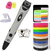 【3D Stifte + PLA Filament 18 Farben + 250 Schablonen eBooks】Dieser 3D-Stift von Neueste Version ist kompatibel mit PLA und ABS. Das 3D Stift Set enthält PLA Filament Pack mit 18 verschiedenen Farben(6 leuchten in der Nach+ 6 Fluoreszierend + 6 Normal...