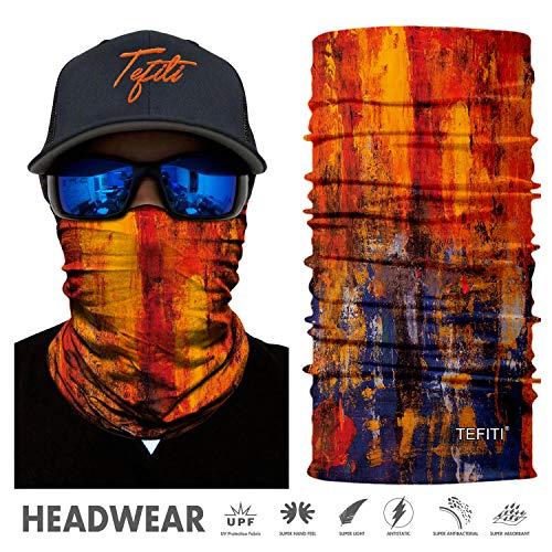 TEFITI Sport-Kopfbedeckung, 3D-UV-Sonnenmaske, Bandana, Sturmhaube, Kopfband für Radfahren, Angeln, Motorradfahren, Laufen, Skateboarden, Jagd, Feuchtigkeitstransport, FS86