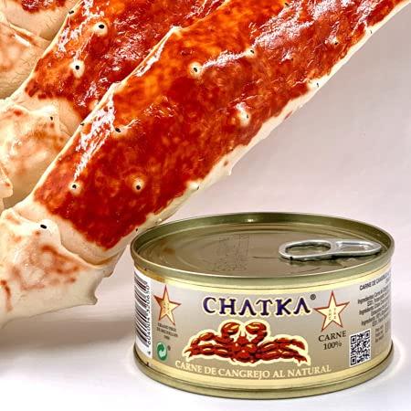 Chatka - Carne de Cangrejo al Natural - 100% Carne de Cangrejo - 65 Gramos Escurrido.