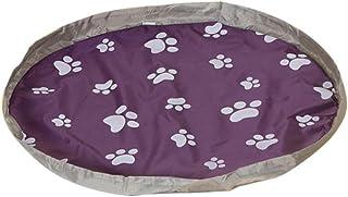 Toy Storage Bag , SENSUAU Large Baby Tidy Bag Waterproof Kids Rug Portable Kids Toys Organizer Storage Drawstring Bag Play Mat Quick Pouch Children Play Mat (80 CM, Printed purple)