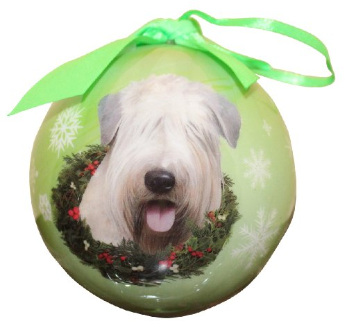 Wheaten Terrier Christmas Ornament Shatter Proof Ball Easy To Personalize For Wheaten Terrier Lovers