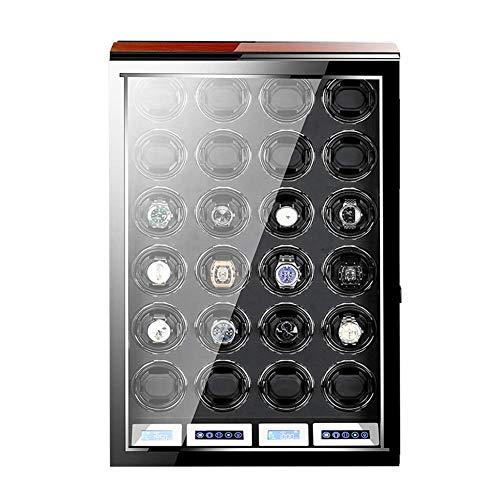 AMAFS Caja de reloj para relojes automáticos con control remoto pantalla táctil LCD pantalla de piano pintura exterior luz LED silencioso festival del motor