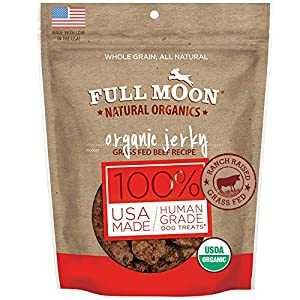 Full Moon Natural Organics Grass Fed Beef Jerky Healthy All Natural Dog Treats Human Grade 14 oz