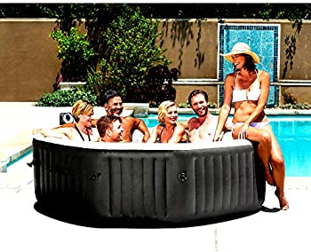 Hot Tub Spas 6 Person with 140 Bubble Jets Portable Inflatable Spa