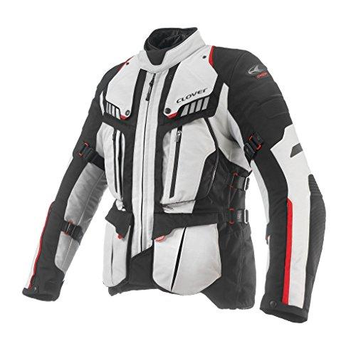 Clover Crossover-3 Motorradjacke Airbag Kompatibel, Schwarz/Weiß, XXL