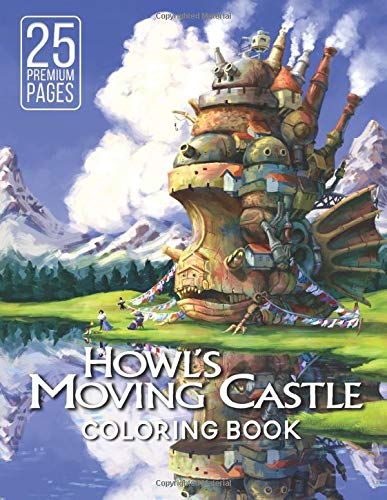 Howl's Moving Castle Coloring Book: Wonderful Coloring Book For Kids for ages 4-12