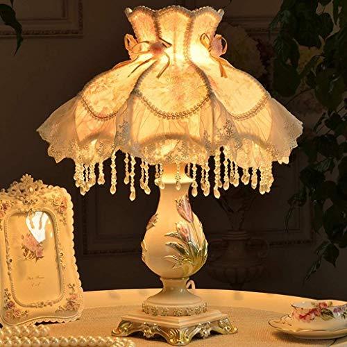 LXGANG Lámpara de escritorio Lámparas de mesa, personalidad simple dormitorio de noche las luces Europea pastoral simplicidad creativo decorativo Iluminación luz de la noche de lectura