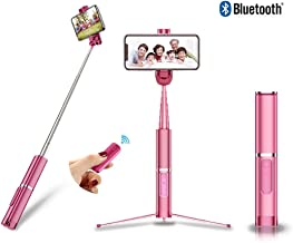 Selfie Stick Bluetooth ,Extendable Selfie Stick Tripod with Detachable Wireless Remote and Tripod Stand Selfie Stick for iPhone Xs MAX/XR/XS/X/iPhone 8/8 Plus/iPhone 6/iPhone 7/Galaxy S9/S9 Plus