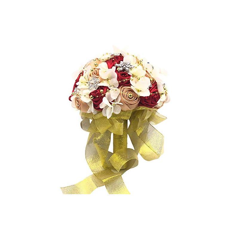 silk flower arrangements abbie home silk rose wedding bouquet brooches bridal holding flowers rhinestone décor