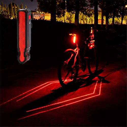 OSHINEW LED Fahrrad Rücklicht, 6 Beleuchtungsmethoden, IPX5 Wasserdicht Rückleuchte mit USB 220 Grad Weitwinkelsicht Fahrradrücklicht für Radfahren, Camping, Wanderung