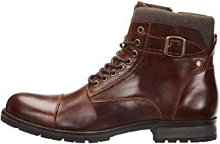 comprar comparacion Jack & Jones Jfwalbany Leather Brown Stone STS, Biker Boots para Hombre
