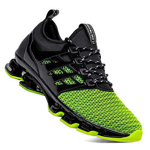 TSIODFO Green Shoes for Men mesh Breathable Comfort Fashion Running Shoes Sport Athletic Walking Sneakers Man Runner Jogging Shoes Casual Tennis Trainers Size 12 1