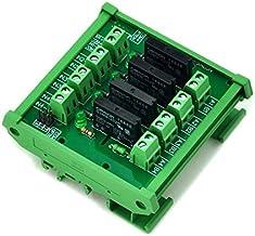 ELECTRONICS-SALON montaje en carril DIN 4 canal SSR/relé de estado sólido del módulo de interfaz, AC100~240V/2A.