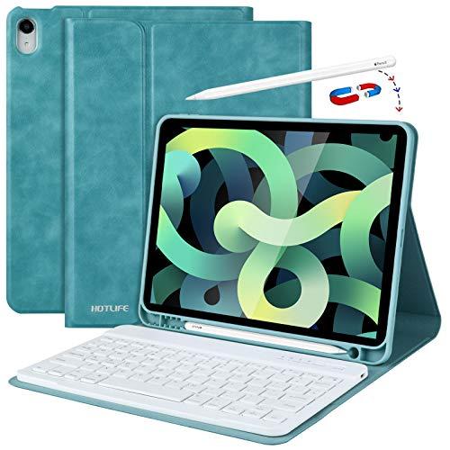 iPad 9.7 キーボードケース 360度回転式 Bluetooth3.0 着脱式キーボード搭載 スタンド機能付き 軽量 高級PU...