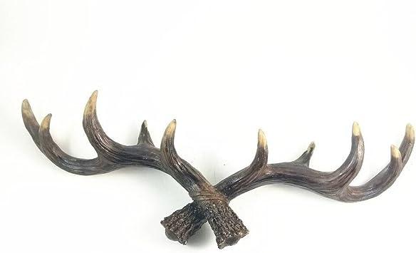 6 Cast Iron Antler Hooks Deer Elk Coat Hat Hall Tree Entry Way Rack Tack Hook