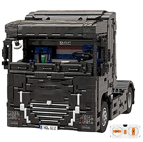 Technology Building Blocks Kit Modelo de Camión, Technology DAF XF 460 Semirremolque Cabeza Remolque Camión con Control Remoto 2880 Piezas, Compatible con Lego Building Blocks