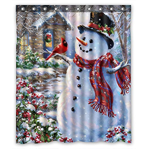 FMSHPON Happy Snowman and Cardinals Winter Holiday...