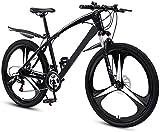 RDJM Bici electrica Bicicletas 26 pulgadas de montaña, doble freno de disco de la bici de montaña Rígidas, unisex al aire libre de bicicletas, Bicicletas completas de suspensión de BTT, ciclismo al ai
