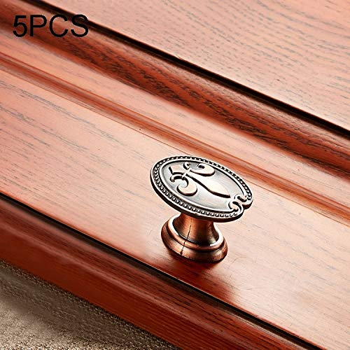 Hmg 5 PCS 6034 Massivholz-Möbel Schrank Griff Red Bronze Griffe