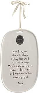 DEMDACO Goodnight Prayer Medallion Black and White 10 x 6 Ceramic Stoneware Sign Plaque