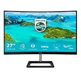 Philips Monitor Gaming 272E1CA Monitor, Adaptive Sync 75 Hz, VA LED 27', FHD, 4 ms, HDMI, Display Port, VGA, Casse Integrate, Flicker Free, Low Blue Light, VESA, Nero