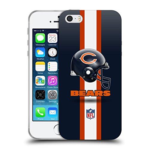 Head Case Designs Licenza Ufficiale NFL Elmetto Chicago Bears Logo Cover in Morbido Gel Compatibile con Apple iPhone 5 / iPhone 5s / iPhone SE 2016