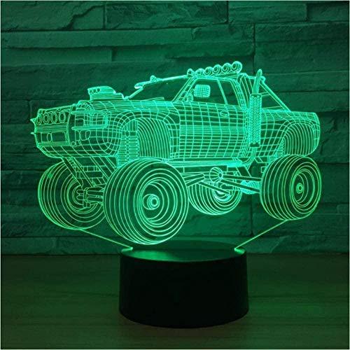YOUPING Luz de noche LED 3D para niños de la luz táctil del vehículo de escritorio de la lámpara USB del coche modelado de 7 colores que cambian de decoración