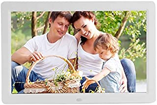 JIANGNIAU Frame 12 inch LED Display Multi-Media Digital Photo Frame with Holder & Music & Movie Player, Support USB/SD/Mic...