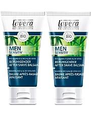 Lavera rustgevende aftershave balsem voor mannen, voor de gevoelige huid, veganistisch per stuk verpakt (1 x 50 ml)