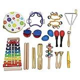 Musikinstrument Spielzeug Kit 19 teile/satz Enthalten Tamburin Griff Tamburin Xylophon Musik Stahl...