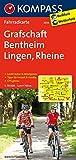 KOMPASS Fahrradkarte Grafschaft Bentheim - Lingen - Rheine: Fahrradkarte. GPS-genau. 1:70000 (KOMPASS-Fahrradkarten Deutschland, Band 3034)
