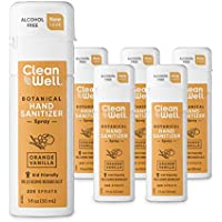 6-Pack CleanWell Botanical Hand Sanitizer Spray