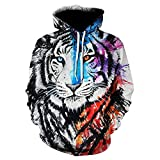 x8jdieu3 Winter Paar Tier 3D Digitaldruck Kapuzenpaar Pullover Sweatshirt Hoodie Jacke