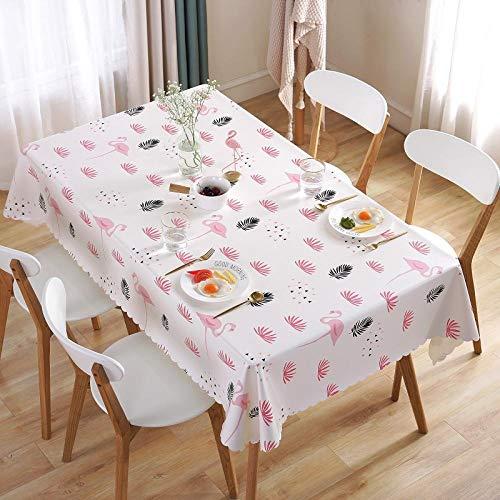 Creek Ywh tafelkleedenset met tafelkleed en servetten, rechthoekig, eenvoudig, vierkant, antikalk-coating, wegwerp-tafelkleed, vers tafelkleed, roze, liefde, 120 x 170 cm, roze
