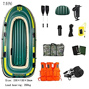 FACAI Kayak Hinchable Inflable Kayak Canoa 2 Remos con Remos Unisex,7.8(ft)-A