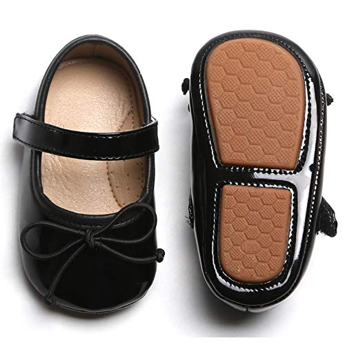 Infant Black Shoes Size 8