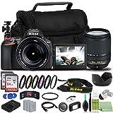 Nikon D5600 DSLR Camera - Bundle - with 18-140mm Lens (1577) USA Model + Color Filter Set + 2x EN-EL14a Batteries + 2x SanDisk Ultra 64GB Cards + Case + Memory Card Wallet + 12' Flexible Tripod + More