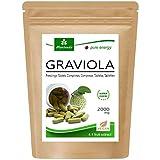Graviola Tabletten 120 x 2000mg Frucht- und Pflanzenextrakt 4:1 Vegan, Qualitätsprodukt von MoriVeda – Sauersack (1x120 Tabs)