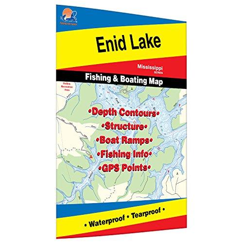 Enid Lake Fishing Map