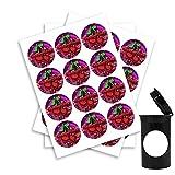 The DailyGrind Cherry Glue Cali Pop Top Slap Pegatinas - 30 mm - x20