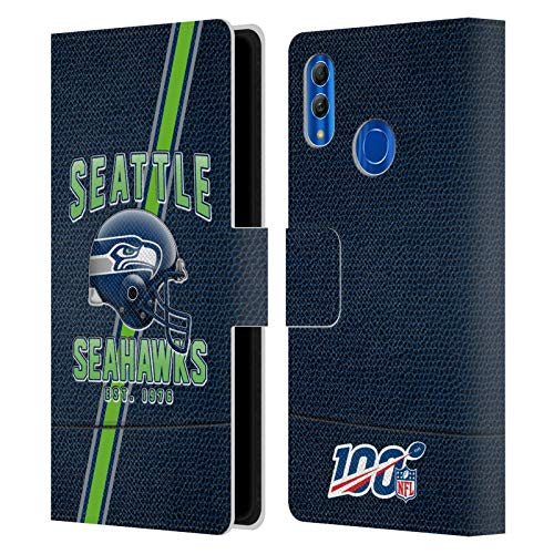 Head Case Designs Offizielle NFL Football Streifen 100ste 2019/20 Seattle Seahawks Leder Brieftaschen Handyhülle Hülle Huelle kompatibel mit Huawei Honor 10 Lite