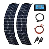 XINPUGUANG Kit Solare Flessibile a Pannelli Solari 50w 16v + 10A Controller RV Caricabatte...